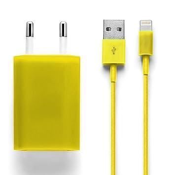 iprotect Cargador con Enchufe y Cable USB para iPhone 5 5s ...