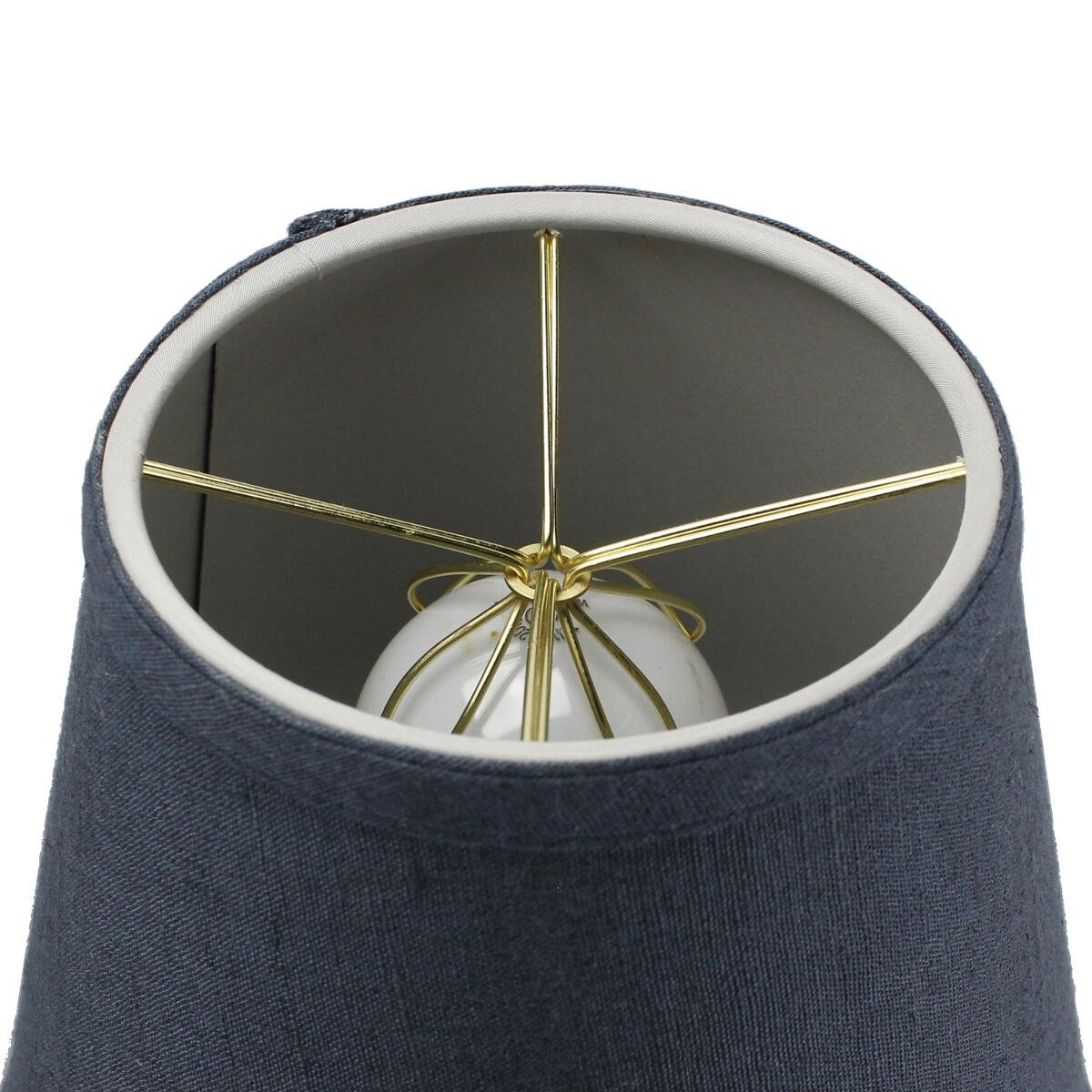 5x8x7 Textured Slate Blue Hard Back Lampshade Clip On Fitter by Home Concept - Perfect for Small Table Lamps, Desk Lamps, and Accent Lights -Small, Blue by HomeConcept (Image #2)