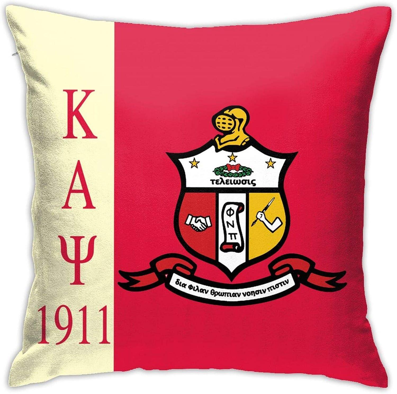 Btueana Kappa Alpha Psi Throw Pillow Covers Set Cushion Case for Sofa Bedroom Car and Home Decor 18 X 18 Inch 45 X 45 cm