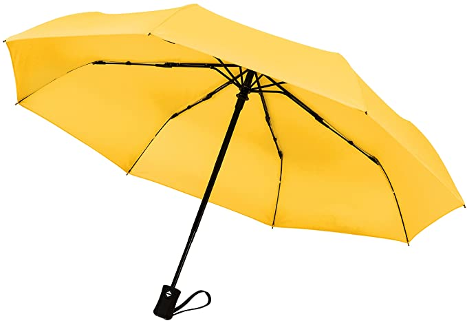 Crown Coast Yellow Travel Umbrella - 60 MPH Windproof Lightweight for Men Women and Kids, Compact Travel Umbrellas in Multiple Colors