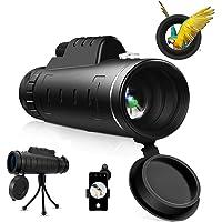 Monocular Starscope Telescope 40X60 High Power HD Monocular Telescope with Mobile Phone Bracket Tripod for Bird Watching…