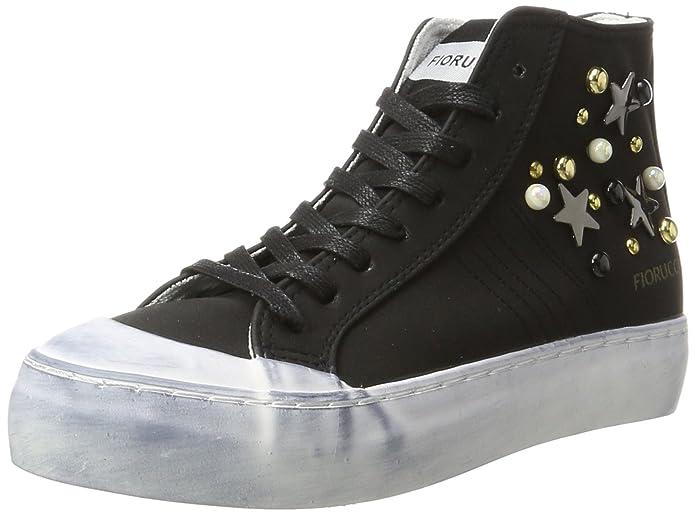 FEAD017, Zapatillas Altas para Mujer, Negro (Nero PU Suede Nero PU Suede), 40 EU Fiorucci