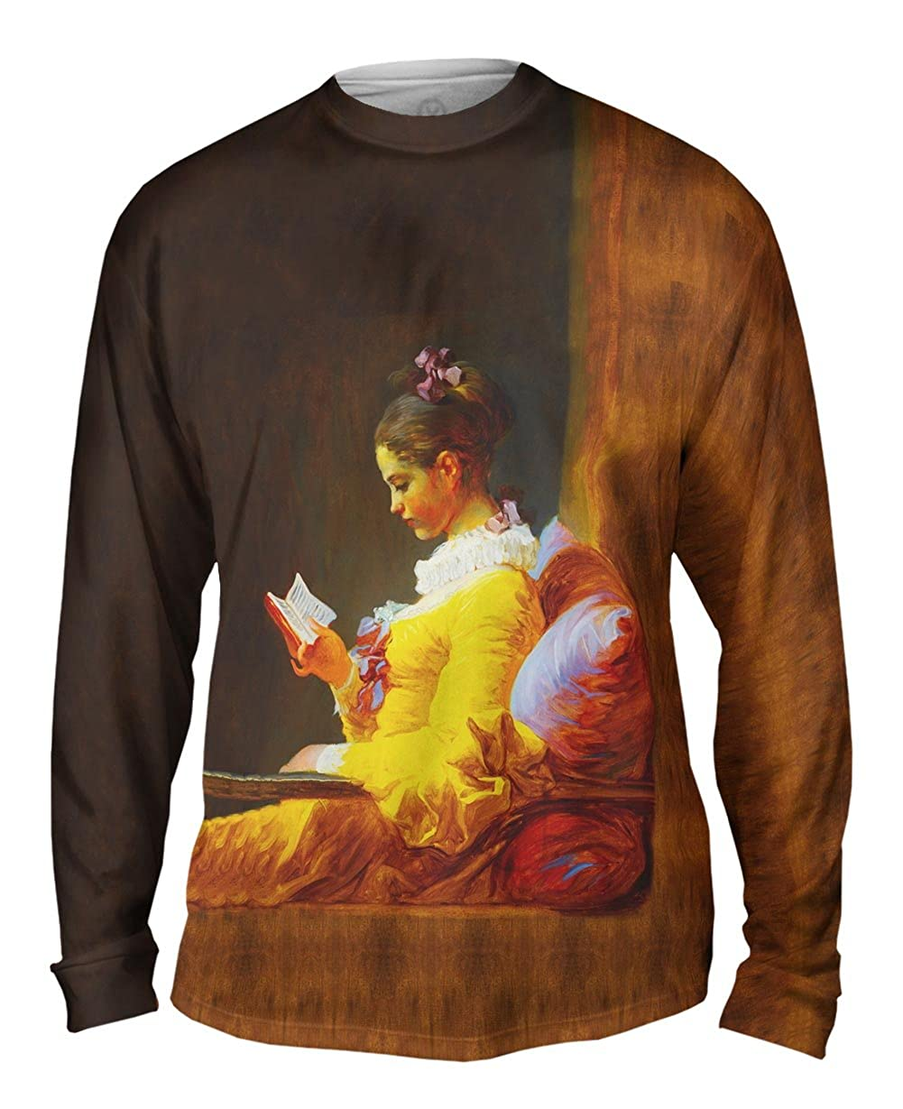 The Reader 1776 -TShirt- Mens Long Sleeve Yizzam- Jean Honore Fragonard