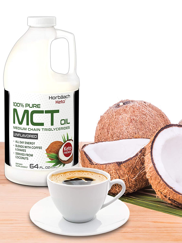 Amazon.com: Horbaach - Aceite 100% puro de MCT de 64 oz sin ...