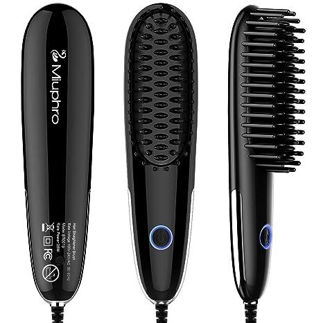 miuphro Mini pelo cabello cepillo, portátil rápido calefacción pelo alisado de Peine Plancha de pelo