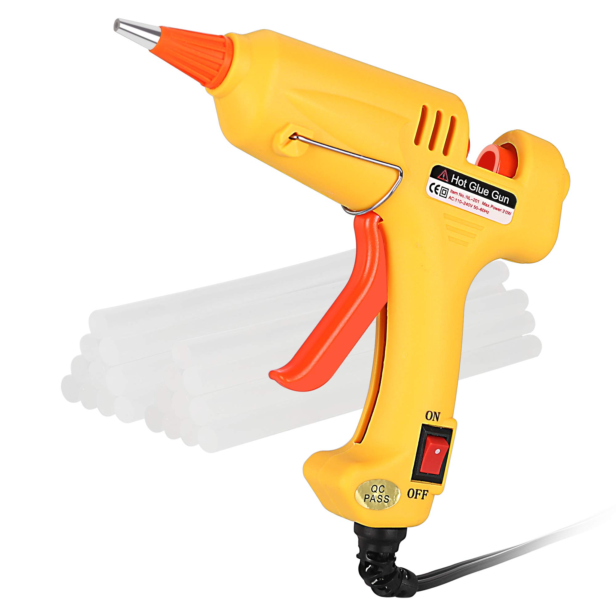 Portable High Temperature Melting Glue Gun Kit 20 Watts with 20pcs Glue Sticks for DIY Small Arts Crafts Projects and Christmas Decorations