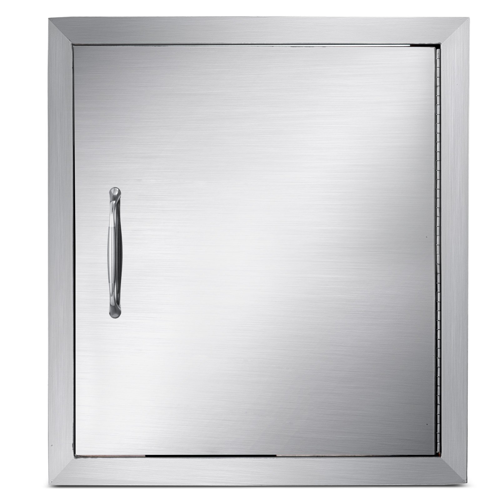 Mophorn Outdoor Kitchen Access Door 18''x 20'' Single Wall Construction Stainless Steel Flush Mount for BBQ Island, 18inch x 20inch,