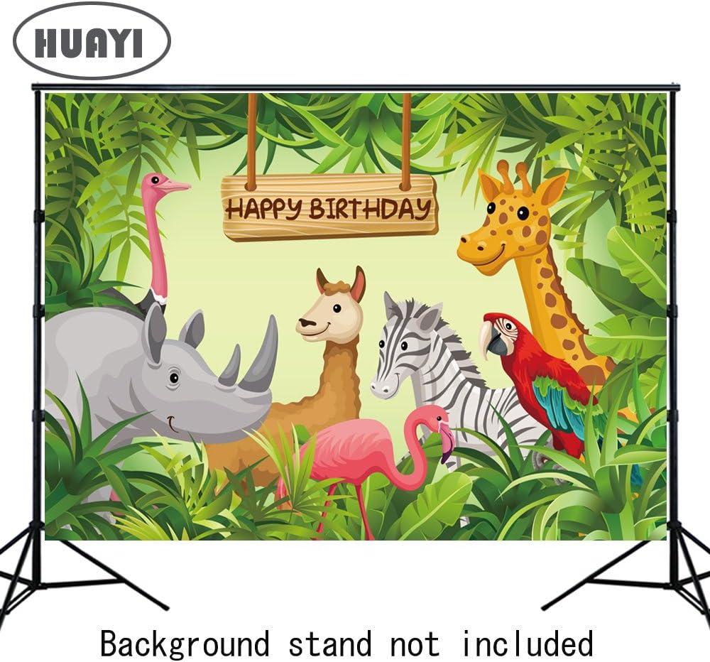 Huayi 7x5ft Cartoon Dschungel Safari Tiere Hintergrund Kamera