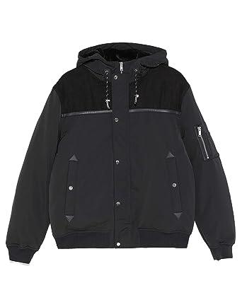 465b669b Zara Men's Contrast Puffer Jacket 6719/450 Black: Amazon.co.uk: Clothing