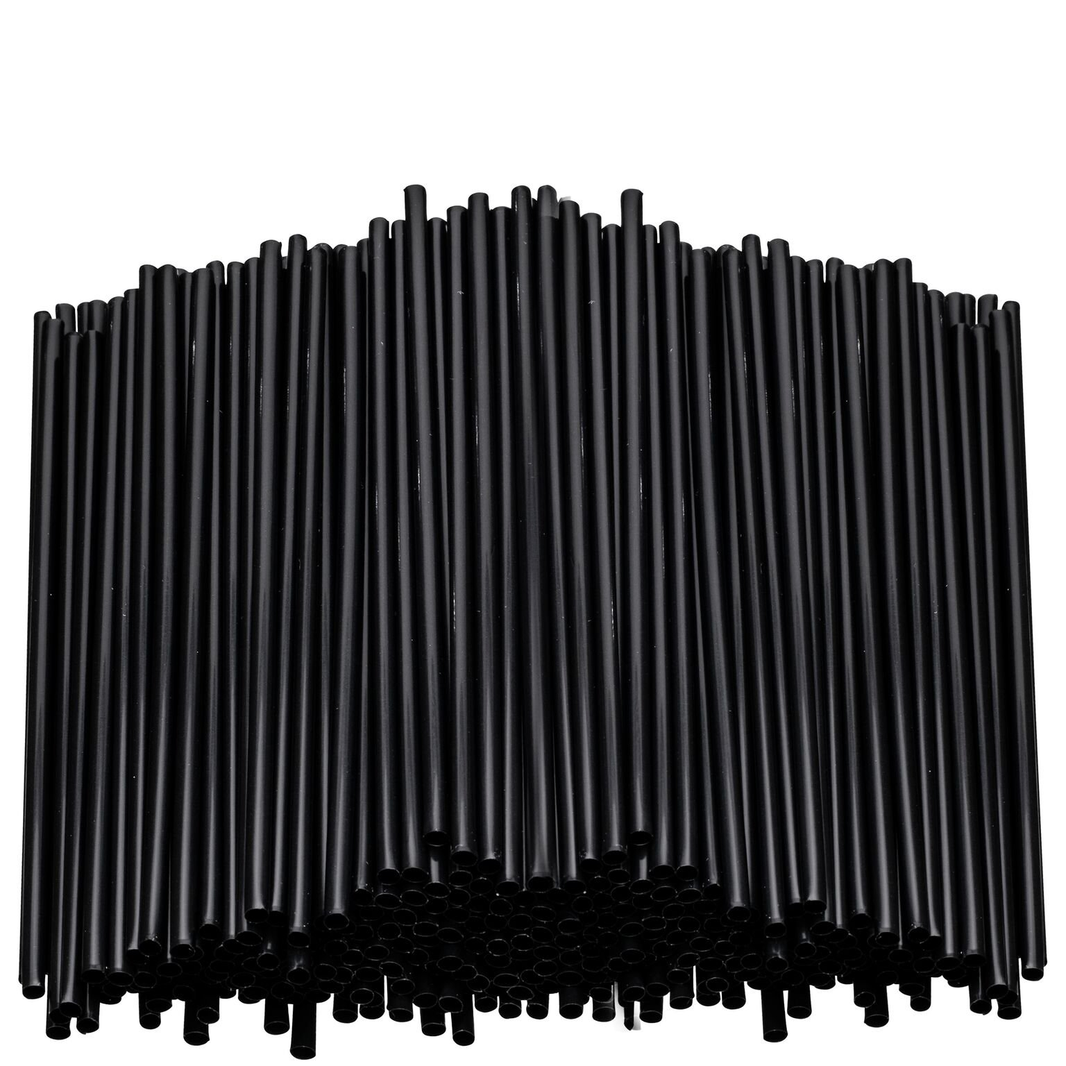 Black Plastic Stirring Straws - Coffee Cocktail Sipping Stirrers - Drink Stir Sticks For Bars Cafes Restaurants Home Use (2000, 7.5 Inches) by eDayDeal (Image #1)