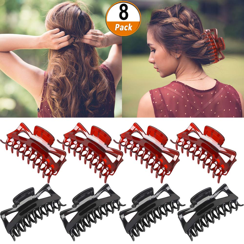 Fashion Lady Women Large Plastic Hair Claw Clamp Clips Shower Hairpins LP