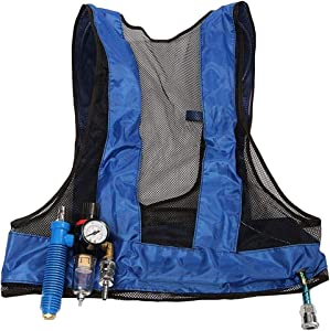 SirMo Vortex Tube Air Conditioner Waistcoat Compressed Air Cooling Vest Welding Steel