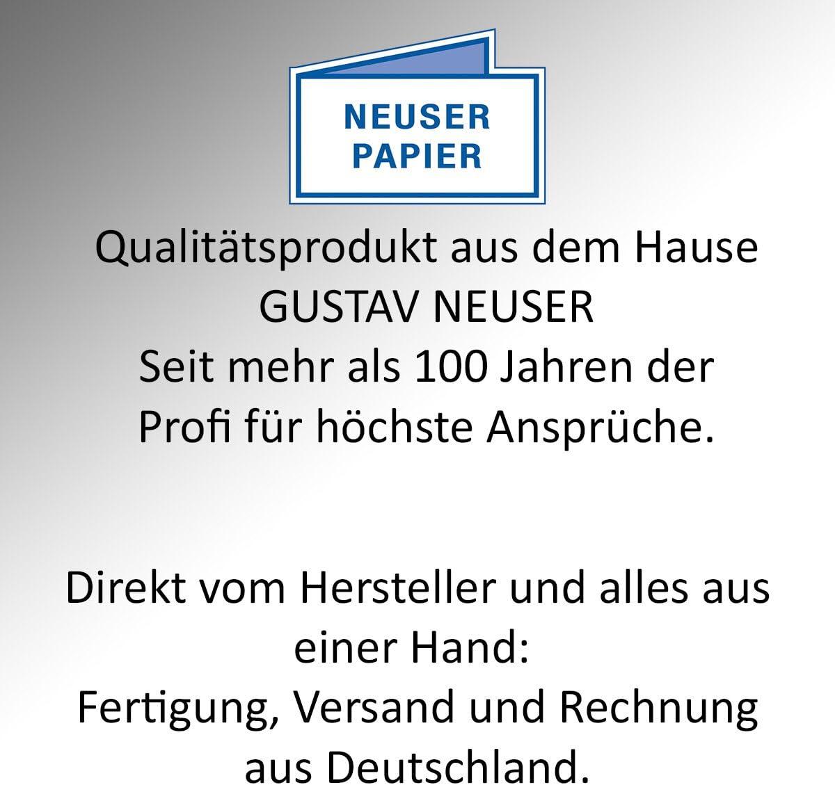 sehr formstabil 400 St/ück Einzelkarten DIN Lang Matt 250 g//m/² f/ür Drucker geeignet Ideal f/ür Gru/ßkarten und Einladungen Hochwei/ß -Premium QUALIT/ÄT Gustav NEUSER 99 x 210 mm