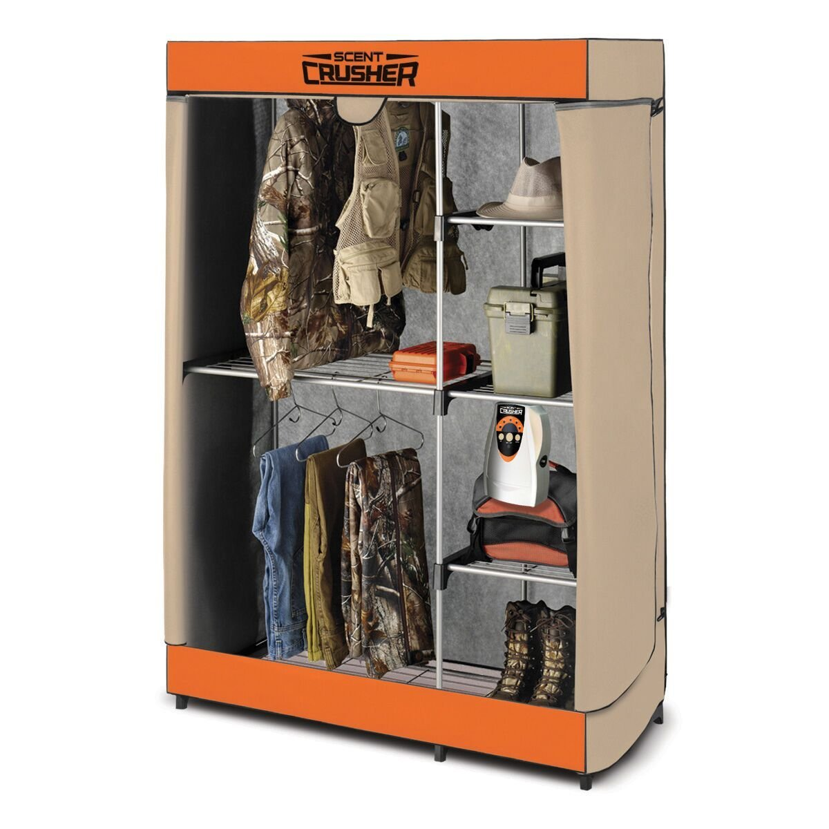 Scent Crusher Flexible Hunter Closet with Ozone Generator by Scent Crusher