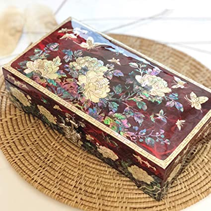 Haihf Jewellery Box Mother Of Pearl Asian Lacquer Women
