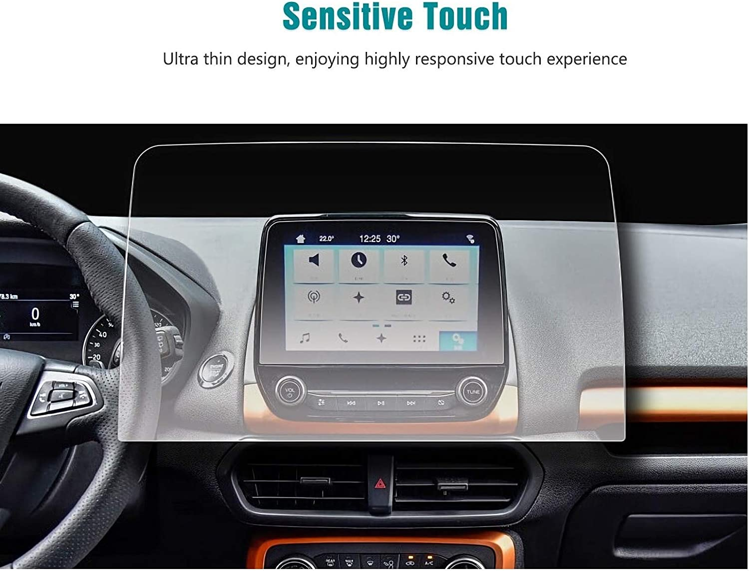 Screen Protector Compatible with 2020 Ford Ecosport Sync3 Touch Screen,Anti Glare Scratch,Shock Resistant,Flyingchan,Navigation Accessories