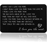 I Love You Wallet Card Insert Anniversary Gif for Men Christmas Gifs for Boyfriend Valentine Day Couple Gifs for Husband Fath
