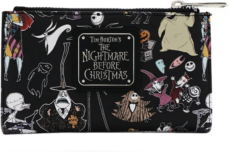 Loungefly Disney Nightmare Before Christmas Character Print Bi-Fold Wallet