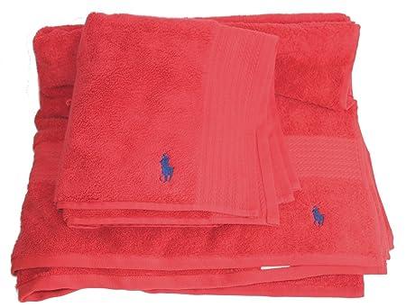 Ralph Lauren Bath Sheet Unique Polo Ralph Lauren Towel Set Of 60 Red Bath Sheet Floor Mat JK60 One