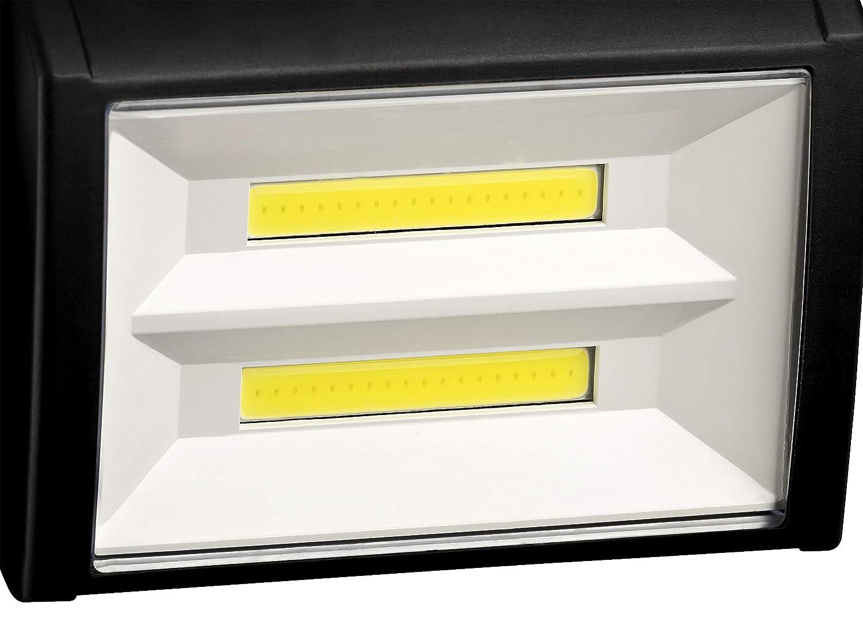 Dunlop COB Lampe de travail 200 lumens 2 LED COB pivotante /à 180 /° Dimensions Fonctionnement /à piles env 22 x 16 x 10 cm