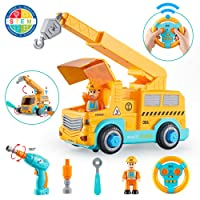 KidPal Take Apart Car STEM Toy Building Set for 3 4 5 Year Old Boy & Girl with Electric...