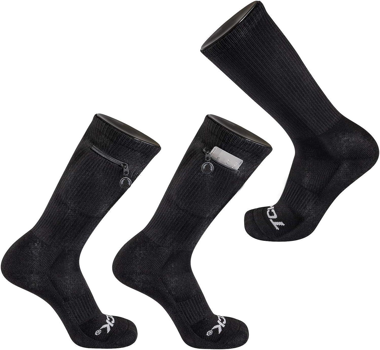 TCK Brands Stash & Dash Performance Zip Pocket Crew Socks