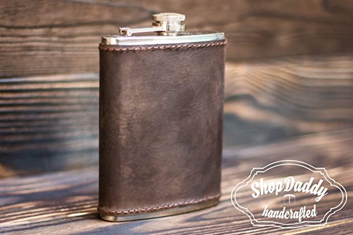 amazon com flask leather flask personalized flask groomsmen