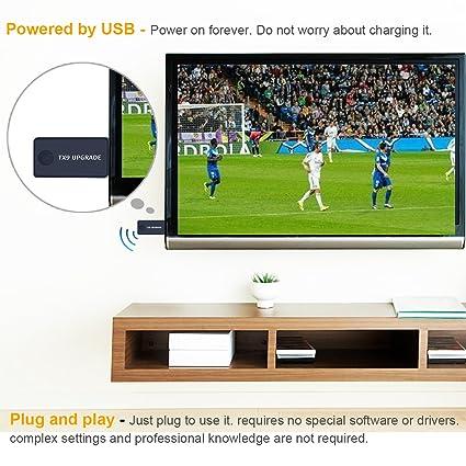 Transmisor Bluetooth para TV, PC (soporta 3.5mm, RCA, USB audio de PC) Conexión Dual Adaptador Inalámbrico de Audio para Auriculares, Baja Latencia, ...