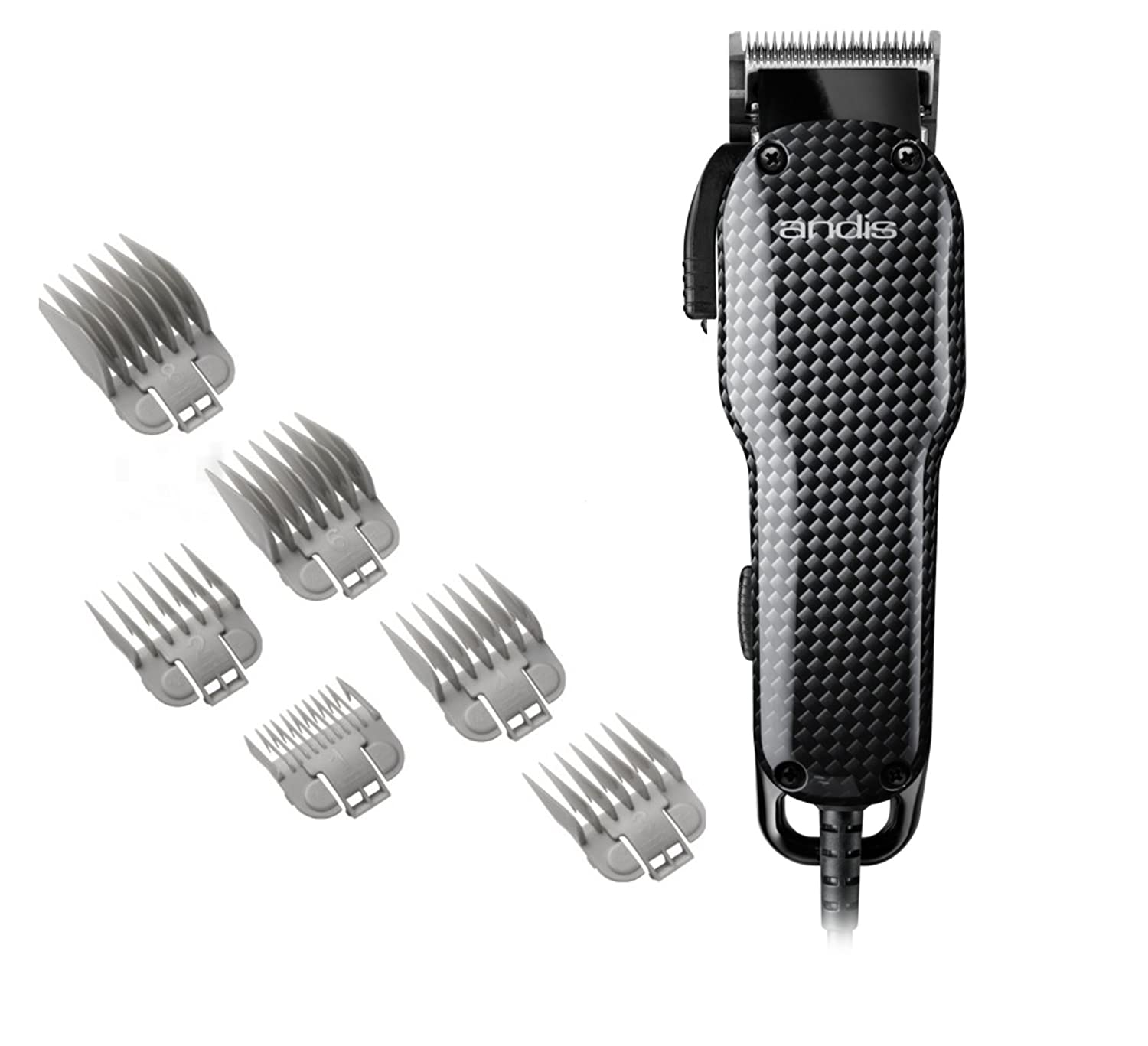 Andis Professional Envy Hair Clipper with Adjustable Blade, Model US-1, Red 66215 Carbon Black
