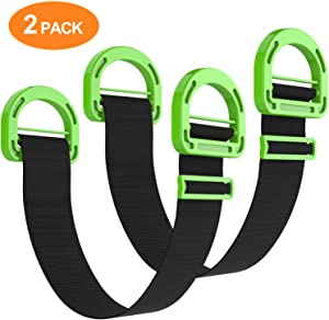 Dprofy Adjustable Lifting Moving Straps - Furniture Moving Straps for Furniture, Boxes, Mattress, Construction Materials, and Heavy (2 Pack)