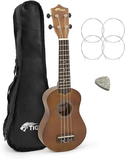 Ukelele Soprano Principiante Tiger con Estuche: Amazon.es: Instrumentos musicales