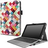 Infiland Asus Transformer Mini T102HA Case, Premium PU Leather Portfolio Stand Cover Case For ASUS 10.1 Inch Transformer Mini T102HA-D4-GR 2 in 1 Touchscreen Laptop- Color Diamond
