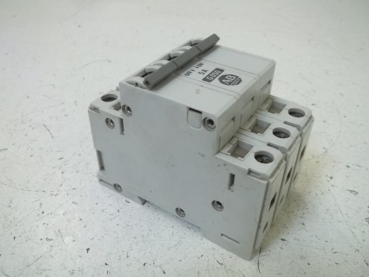 Allen Bradley 3 Pole Molded Case Circuit Breaker 1492 Cb3 G050 5a Cutler Hammer Gfci 2 20amp Gfcb220 Industrial Scientific