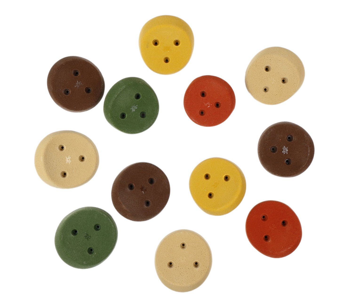12 Large Scoop Jugs (Screw On) | Climbing Holds | Mixed Earth Tones