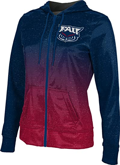 School Spirit Sweatshirt Gradient Florida Atlantic University Girls Zipper Hoodie