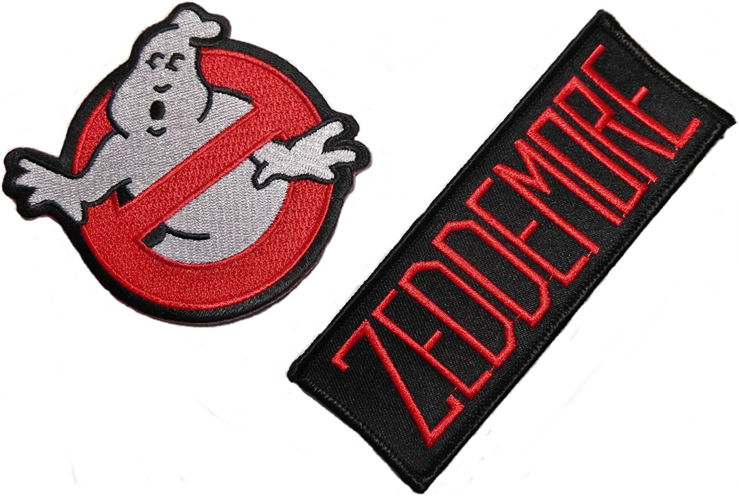 Ghostbusters Zeddemore Red on Black Name Tag with No Ghost Patch Set of 2