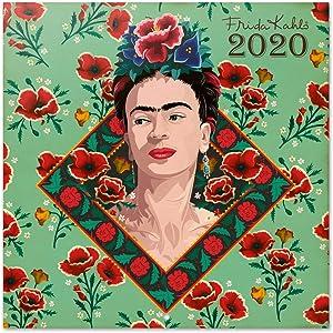ERIK - Frida Kahlo 2020 Wall Calendar, Home Office Planner, (16 Months), 30 x 30cm