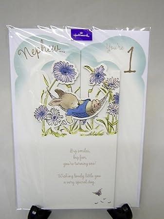 Hallmark nephew 1st birthday card amazon office products hallmark nephew 1st birthday card bookmarktalkfo Images