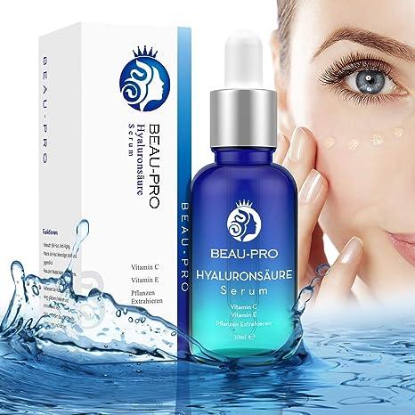 Ácido Hialurónico Vitamina C Facial | Beau-pro Suero Hidratante Molécula Pequeña | Cuidado diurno