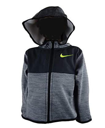 1fe2e34fe6 Nike Kids Baby Boy's Winterized Therma Full Zip Hoodie (Toddler) Cool Gray  Heather 2T