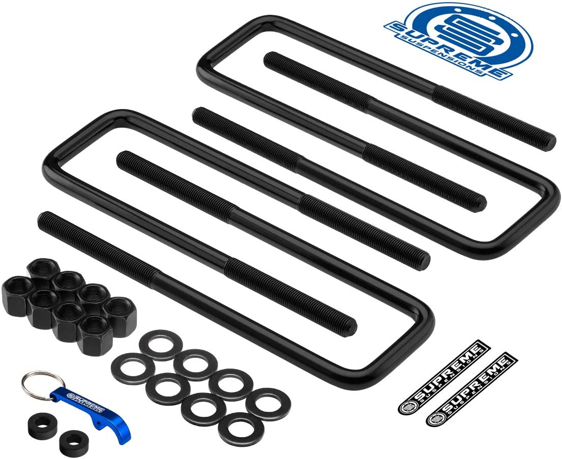 Zinc Phosphate Coated U-Bolts for 1999-2007 Chevy Silverado 1500 12 Long x 2.5 Wide x 9//16 Threads u-Bolts for Lifted Applications Supreme Suspensions