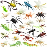 """Insect Bug Toy Figures for Kids Boys, 2-4"""" Fake Bugs - Fake Spiders, Cockroaches, Scorpions, Crickets, Lady Bugs, Mantis and"""