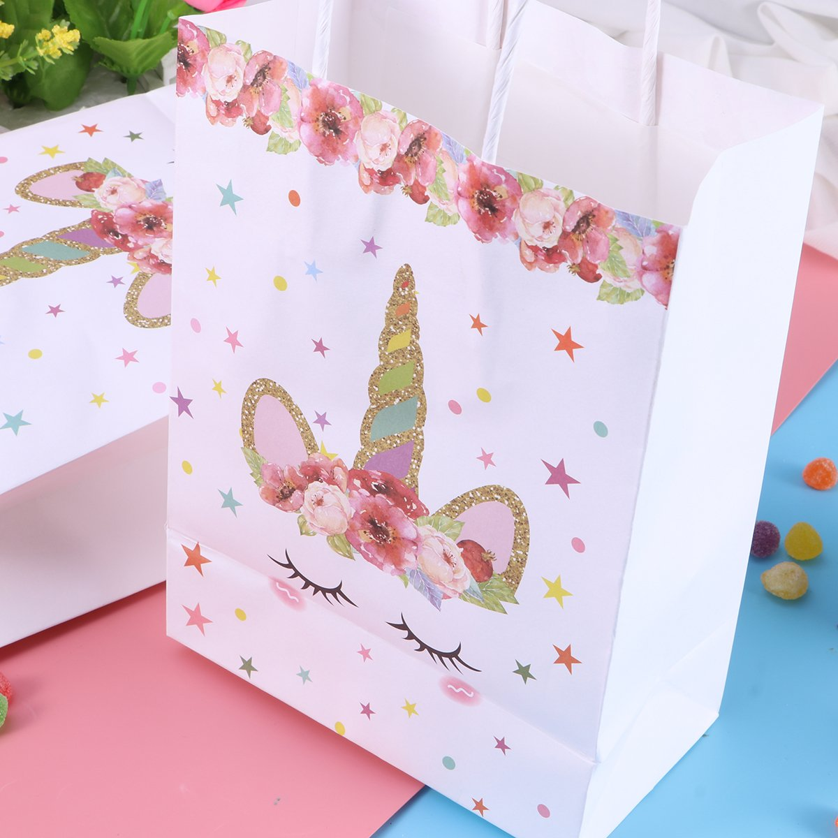 Amazon.com: LUOEM 10 Pcs Unicorn Paper Treat Bags Unicorn Pattern Paper Candy Bags Party Favor Bags Gift Bags Chocolate Gift Treat Boxes for Kids Birthday ...