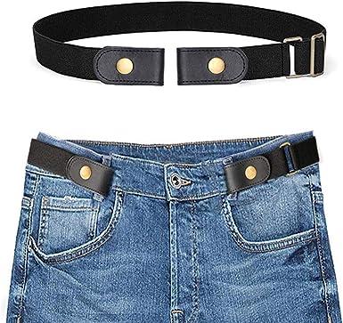 Buckle Free Stretchy Elastic Waist Belt Waistband Adjustable For Jeans No Bulge