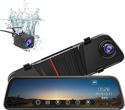 Junsun Spiegel Dashcam Vorne Und Hinten 25 4 Cm 10 Zoll Touchscreen Vorderseite 1080p Rücksicht 1080p Dual Linse 170 Grad Weitwinkel Mit Rückfahrkamera G Sensor Parkmonitor Nachtsicht Auto
