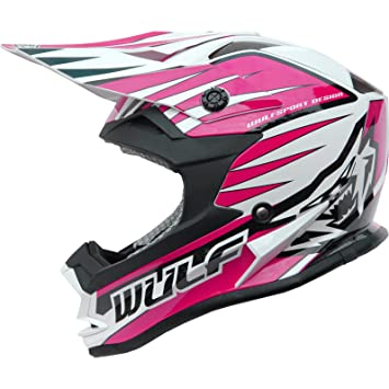 Wulf Cub Advance Junior Motocross Helmet S Pink