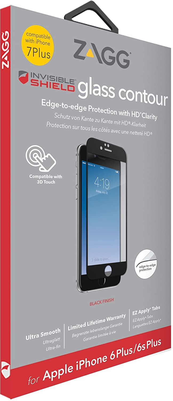 invisibleSHIELD Glass Contour - Protector de Pantalla para Apple iPhone 8 Plus/7 Plus, Transparente: Amazon.es: Electrónica
