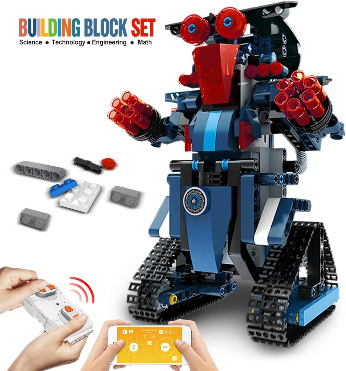 Purple DAZHONG Remote Control Robot STEM Application Building Block Robot Education kit Remote Control Engineering Science Education Building Toy boy Girl Learning Smart Gift
