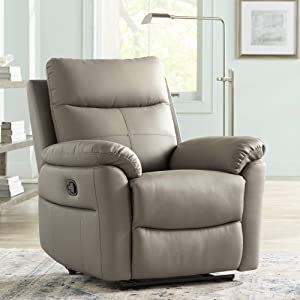 Newport Taupe Recliner Chair - Elm Lane