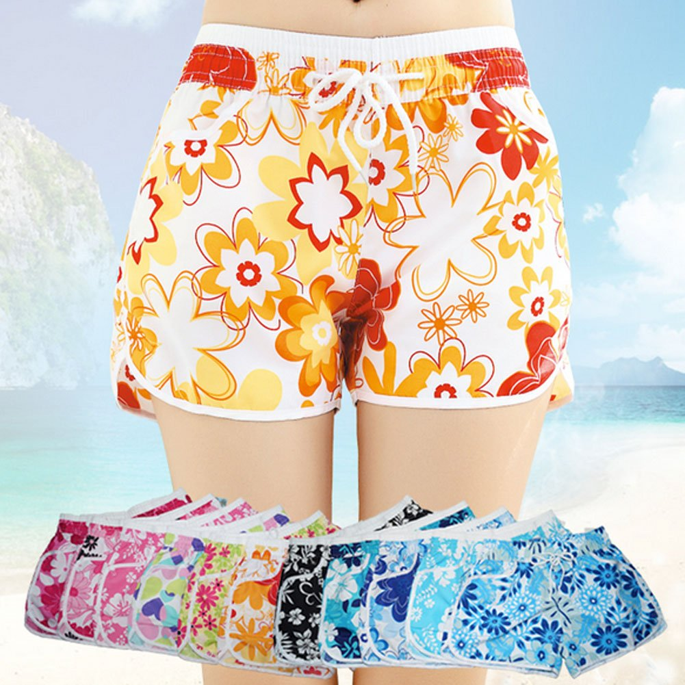 Leisure Beach Pants Sport Shorts Quick-drying Loose Hot Pants Floral